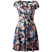 Buy Almari Floral V-neck Pleat Dress, Multi Online at johnlewis.com