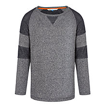 Buy John Lewis Boy Textured Crew Neck Jumper, Grey Online at johnlewis.com