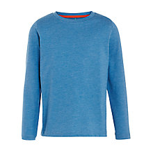 Buy John Lewis Boy Melange Long Sleeve Crew Neck T-Shirt, Bright Blue Online at johnlewis.com