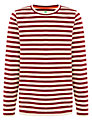 John Lewis Boy Stripe Polo Shirt, Red/Green