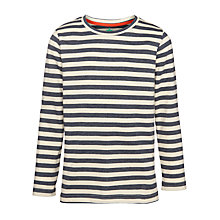 Buy John Lewis Boy Striped Long Sleeved T-Shirt, Navy/White Online at johnlewis.com