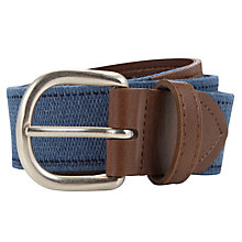 Buy John Lewis Boy Plain Belt, Blue/Brown Online at johnlewis.com