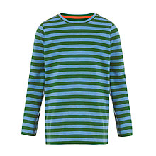 Buy John Lewis Boy Stripe Long Sleeve T-Shirt, Blue/Green Online at johnlewis.com