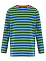 John Lewis Boy Stripe Long Sleeve T-Shirt, Blue/Green