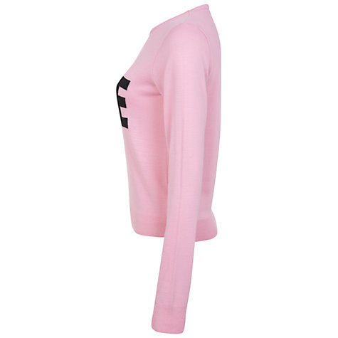 Buy Miss Selfridge Love Jumper, Pink Online at johnlewis.com
