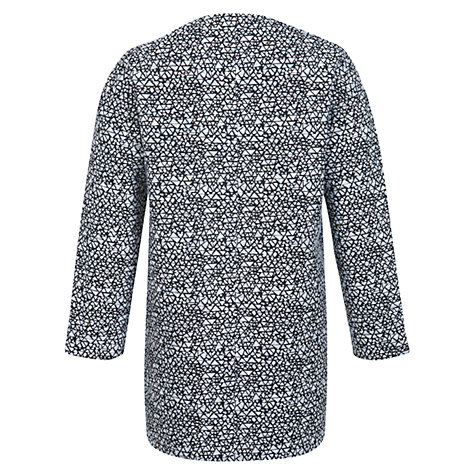 Buy Miss Selfridge Aztec Coat, Black/White Online at johnlewis.com