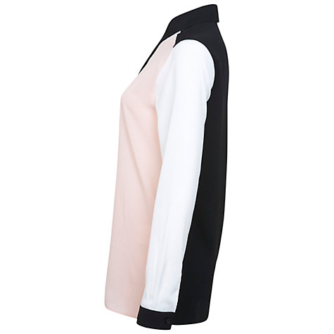 Buy Miss Selfridge Colour-Block Shirt, Pink/Ivory Online at johnlewis.com