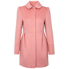 Buy Miss Selfridge Pea Coat, Pink Rose Online at johnlewis.com