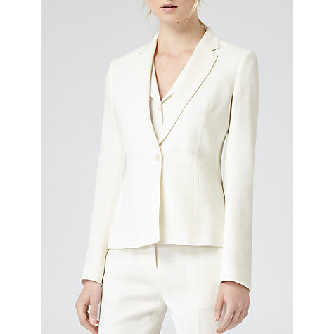 Buy Reiss Tailored Fontez Jacket, Cream Online at johnlewis.com