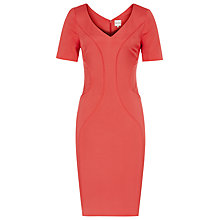 Buy Reiss Trim Detail Bodycon Othilia Dress, Papaya Online at johnlewis.com