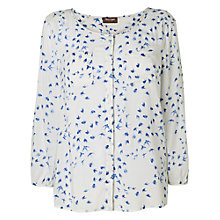 Buy Phase Eight Sadie Swallow Blouse, Ivory/Blue Online at johnlewis.com