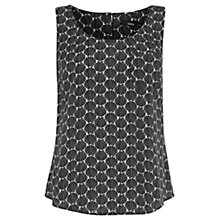 Buy Oasis Shell Print Vest, Black/White Online at johnlewis.com