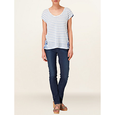 Buy Phase Eight Veronica Striped Top, Cornflower Online at johnlewis.com