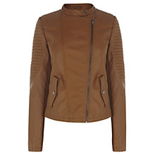 Buy Oasis Collarless Sophie Jacket, Tan Online at johnlewis.com