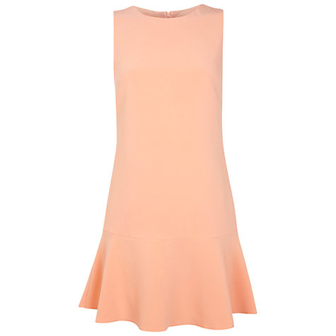 Buy Miss Selfridge Drop Hem Dress, Peach Online at johnlewis.com