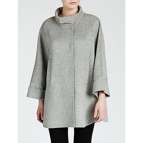 Buy Weekend by MaxMara Wool Beber Coat, Pearl Grey Online at johnlewis.com