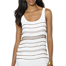 Buy Lauren by Ralph Lauren Beaded Scoopneck Tank Top, White Online at johnlewis.com