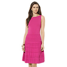 Buy Lauren Ralph Lauren Fonteyne Boat Neck Dress, Cerise Pink Online at johnlewis.com