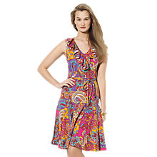 Buy Lauren Ralph Lauren Ruffled Paisley Cotton Dress, Multi Online at johnlewis.com