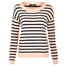 Buy Weekend by MaxMara Striped Pacos Jumper, Powder Pink Online at johnlewis.com
