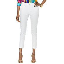 Buy Lauren by Ralph Lauren Sherlinda Crop Trousers, White Online at johnlewis.com