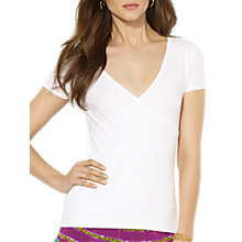 Buy Lauren Ralph Lauren Joanna Wrap Knit Top, White Online at johnlewis.com