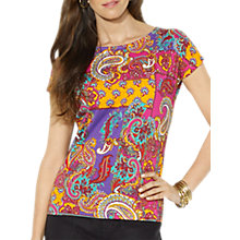 Buy Lauren by Ralph Lauren Paisley Cotton Top, Multi Online at johnlewis.com