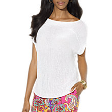 Buy Lauren by Ralph Lauren Nakila Knit Top, White Online at johnlewis.com