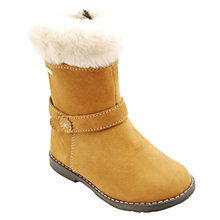 Buy Start-rite Aqua-rite Faux-Fur Suede Calf Boots, Honey Online at johnlewis.com