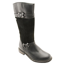 Buy Start-rite Aqua Bow Leather Boots, Black Online at johnlewis.com