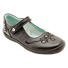 Buy Start-rite Princess Serena Leather Shoes, Black Online at johnlewis.com