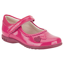 Buy Clarks Trixie Heart Leather Shoes, Berry Online at johnlewis.com