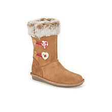 Buy Clarks Children's Snuggle Folk Boots, Tan Online at johnlewis.com