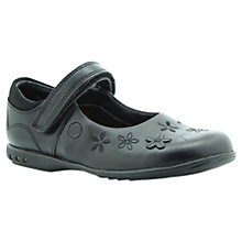 Buy Clarks Breena Flower Applique Shoes, Black Online at johnlewis.com