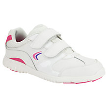 Buy Clarks Childrens' Free Win Trainers, White/Pink Online at johnlewis.com