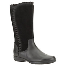 Buy Clarks Daisy Ribbon Trim Boots, Black Online at johnlewis.com