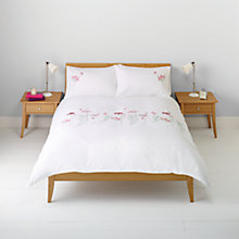 Buy John Lewis Butterflies and Flowers Embroidered Duvet Cover and Pillowcase Set Online at johnlewis.com