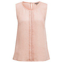 Buy Jigsaw Daisy Jacquard Pintuck Top, Nude Online at johnlewis.com