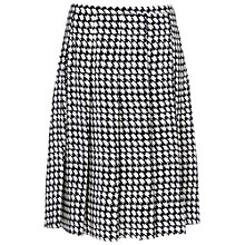 Buy Jaeger Silk Dogtooth Skirt, Ivory / Navy Online at johnlewis.com