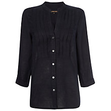 Buy Jaeger Linen Pintuck Blouse Online at johnlewis.com