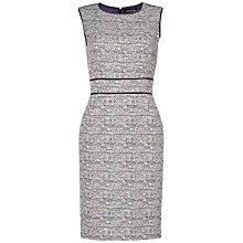 Buy Jaeger Lurex Tweed Shift Dress, Navy Online at johnlewis.com