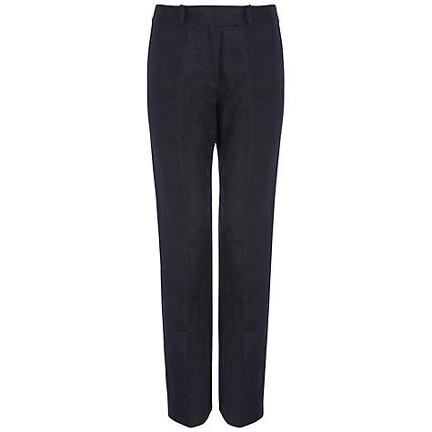 Buy Jaeger Parallel Leg Linen Trousers Online at johnlewis.com