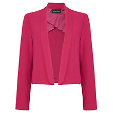 Buy Jaeger Cropped Crepe Jacket, Raspberry Online at johnlewis.com