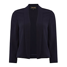 Buy Jaeger Cropped Crepe Jacket, Navy Online at johnlewis.com