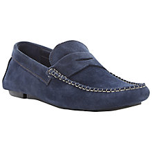 Buy Bertie Benz 2 Suede Loafers, Navy Online at johnlewis.com