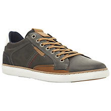 Buy Dune Tailored Contrast Stitch Trainers, Navy Online at johnlewis.com