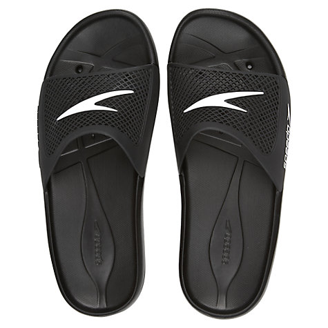 Buy Speedo Men's Atami II Max Flip Flops, Black/White Online at johnlewis.com