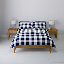 Buy John Lewis Rugby Stripe and Rugby Check Duvet Cover and Pillowcase Sets, Pack of 2 Online at johnlewis.com