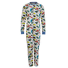 Buy Batman Print Onesie, Grey/Multi Online at johnlewis.com