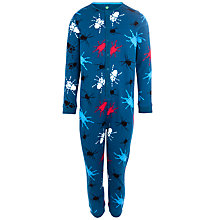 Buy John Lewis Boy Spider Jersey Onesie, Ink Online at johnlewis.com